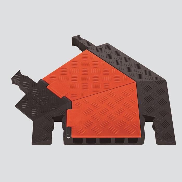 guard dog 5 channel general purpose cable protector left turn gdt5x125 l o b. Black Bedroom Furniture Sets. Home Design Ideas