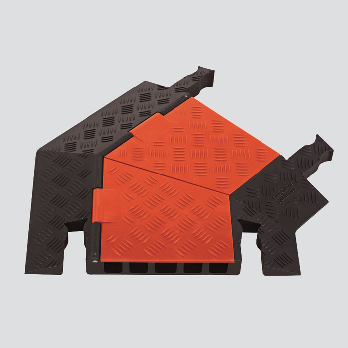 guard dog 5 channel general purpose cable protector right turn gdt5x125 r o. Black Bedroom Furniture Sets. Home Design Ideas